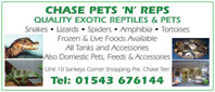 Exotic pets and reptiles