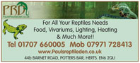 For all your reptile needs, food, vivariums, lighting, heating, etc